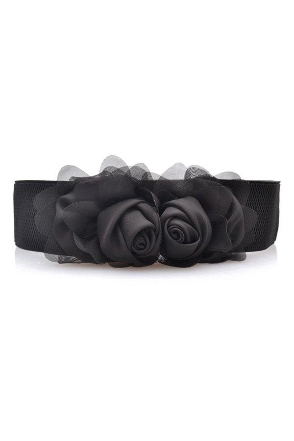 Flowers Design Elastic Belt