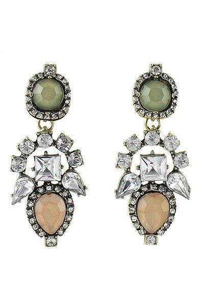 Pair of Colorful Gemstone Earrings
