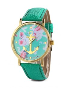 Anchor Design Printed Watch