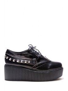 Rivets Hollow Out Platform Shoes