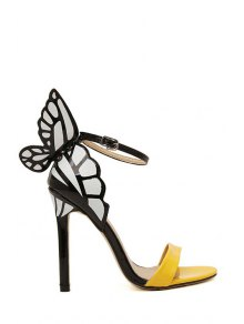 Butterfly Color Block Stiletto Heel Sandals