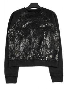 Sequins Splicing Long Sleeve Sweatshirt