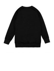 Sequins Floral Pattern Sweatshirt