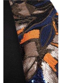 Long Sleeve Sequins Splicing Sweatshirt