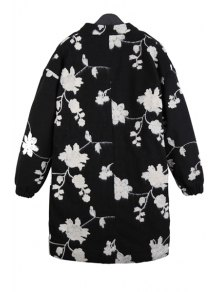Floral Embroidery Long Sleeve Coat