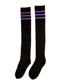 Pair of Stripe Overknee Stockings
