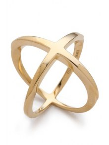 Solid Color Cross Ring