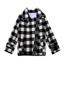 Plaid Turn-Down Collar Jacket