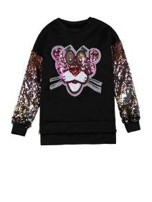 Tiger Sequins Pattern Sweatshirt