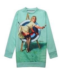 Woman Print Long Sleeve Sweatshirt