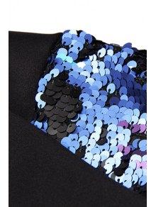 Eagle Print Sequins Splicing Sweatshirt