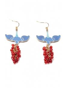 Pair of Beads Pendant Earrings