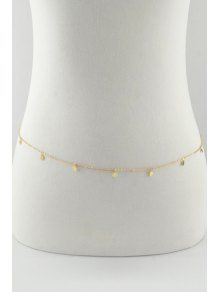 Sequins Embellished Body Chain - Golden