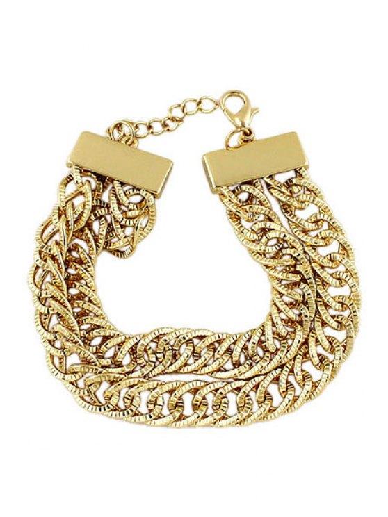 trendy Golden Multi-Layered Bracelet - GOLDEN