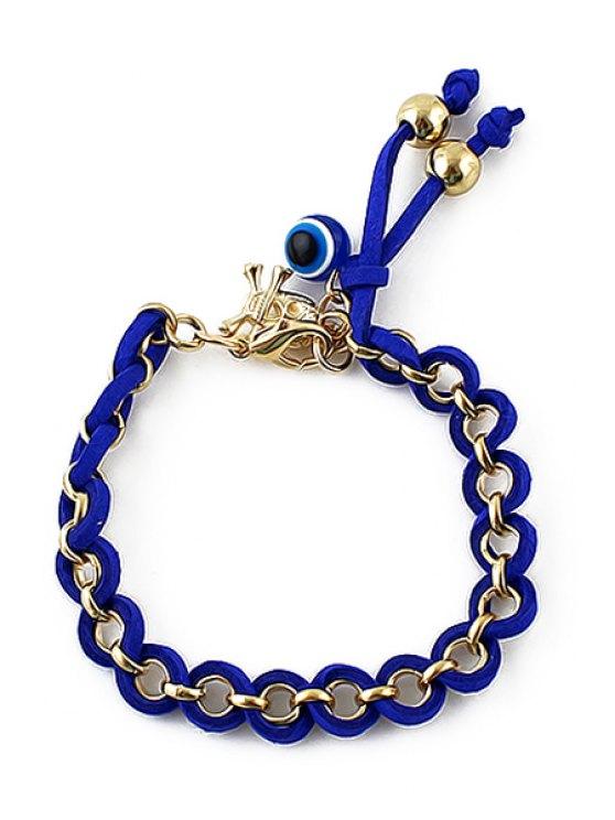 sale Eye Skull Pendant Circle Charm Bracelet - BLUE