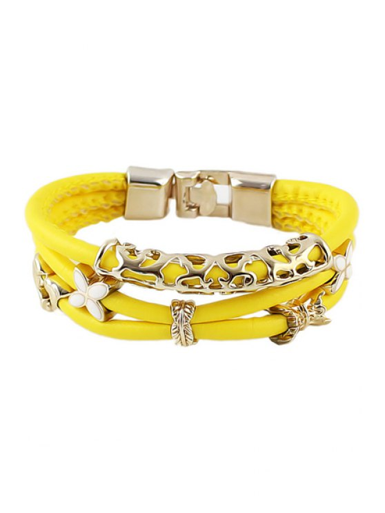 shops Yellow Layered Bracelet - YELLOW