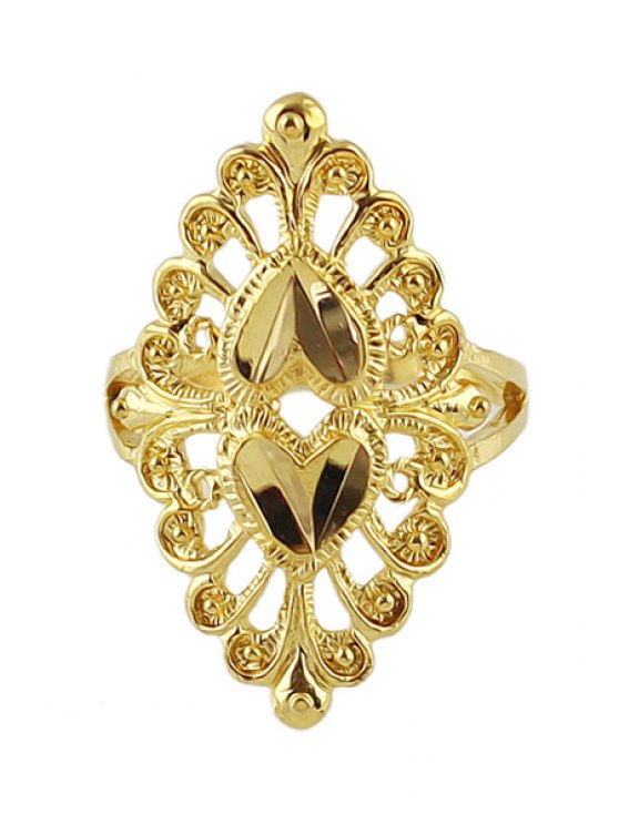 ladies Golden Special Ring - GOLDEN ONE-SIZE