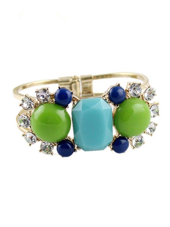 fashion Faux Gem Embellished Bracelet - COLORMIX