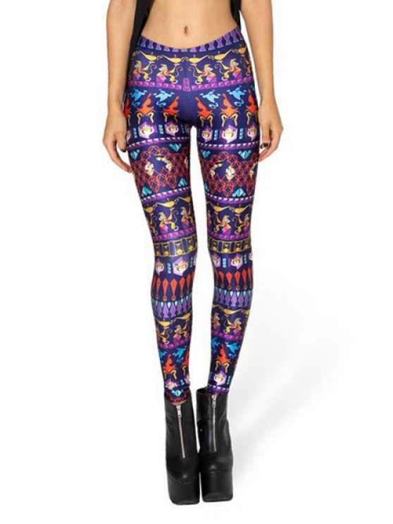 affordable Animals Print Narrow Feet Leggings - COLORMIX ONE SIZE(FIT SIZE XS TO M)