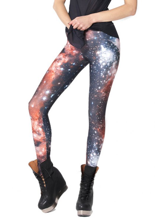 latest Starry Print Skinny Leggings - COLORMIX ONE SIZE(FIT SIZE XS TO M)