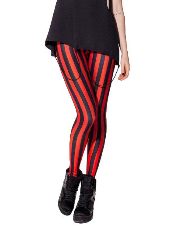 fashion Striped Pattern Skinny Leggings - STRIPE ONE SIZE(FIT SIZE XS TO M)