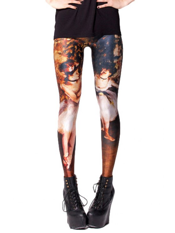 sale Figure Pattern Skinny Leggings - COLORMIX ONE SIZE(FIT SIZE XS TO M)