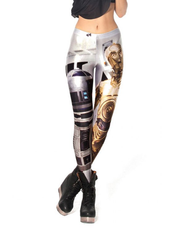 new Robot Print Skinny Leggings - COLORMIX ONE SIZE(FIT SIZE XS TO M)