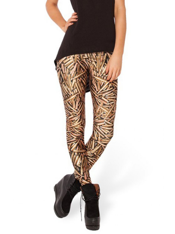 best Elastic Waist Print Leggings - COLORMIX ONE SIZE(FIT SIZE XS TO M)