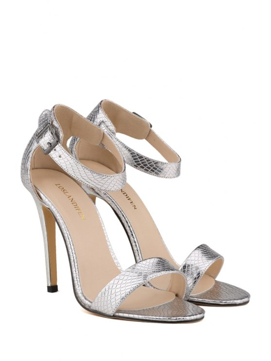 sexy high heel buckle sandals silver sandals 42 zaful. Black Bedroom Furniture Sets. Home Design Ideas