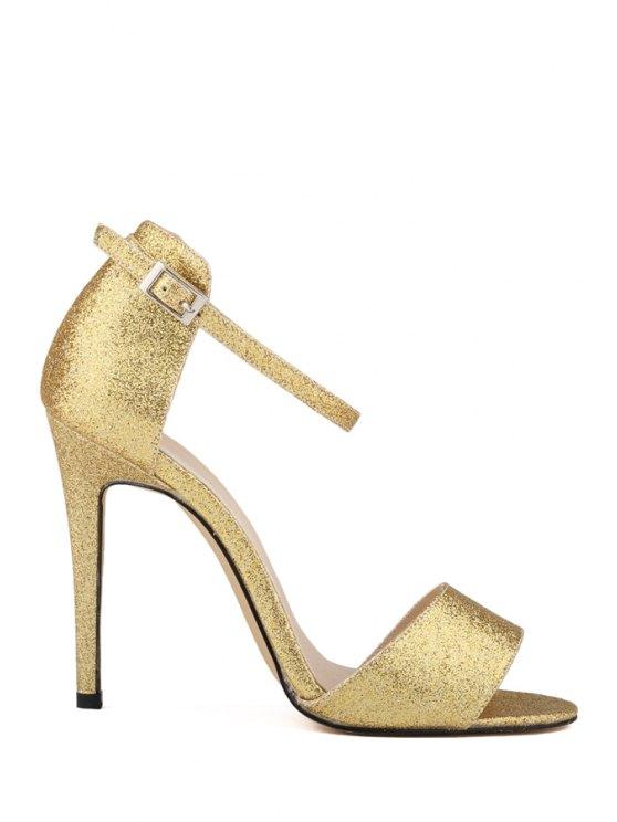 trendy Bling-Bling Sexy High Heel Sandals - GOLDEN 41