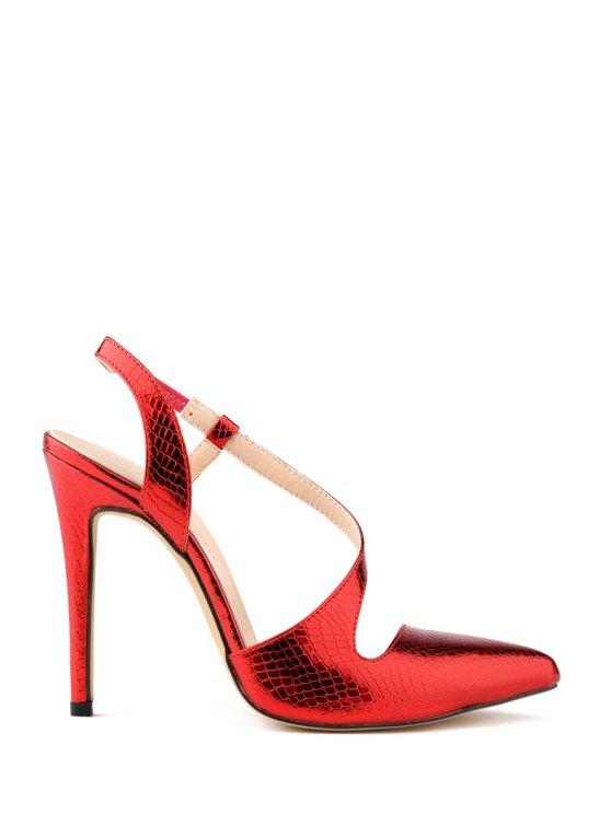hot Sexy High Heel Elastic Design Pumps - RED 41