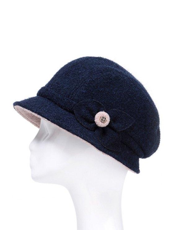 lady Leaf Design Solid Color Bucket Hat - SAPPHIRE BLUE