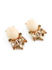 Pair of Faux Gem Embellished Earrings - COLORMIX