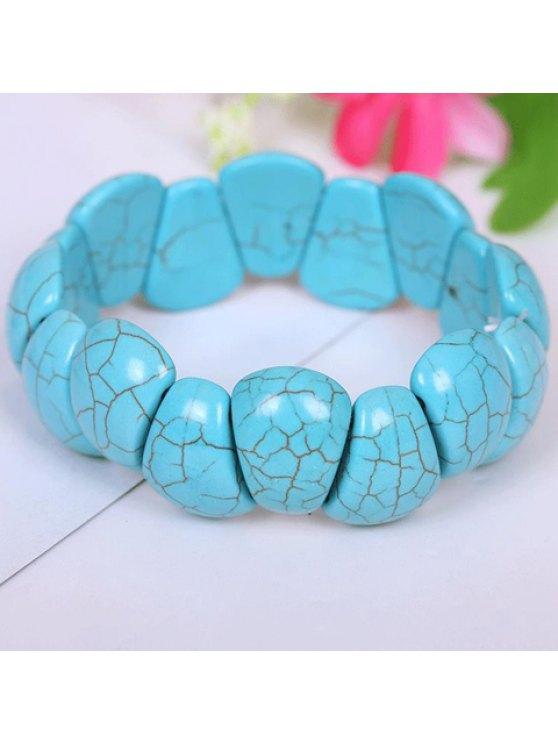 women's Classic Women's Pattern Decorated Turquoise Bracelet - LAKE BLUE