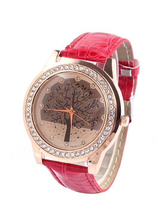 unique Tree Pattern Rhinestoned Watch - RANDOM COLOR