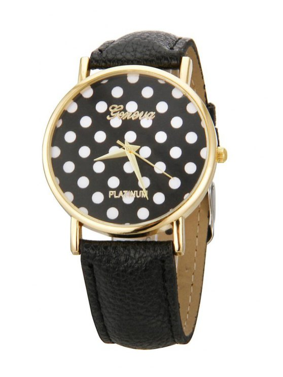 unique Polka Dot Watch - BLACK