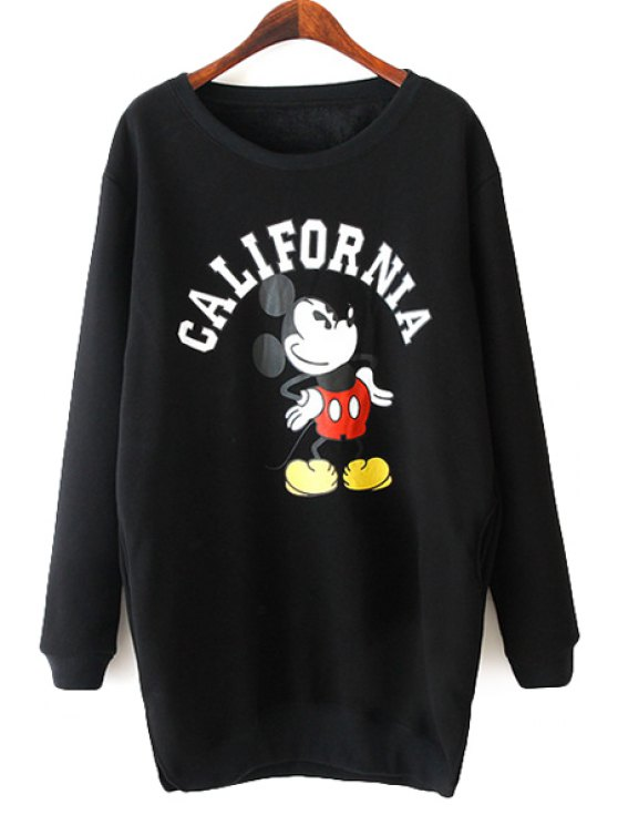 best Long Sleeves Character Print Sweatshirt - BLACK ONE SIZE(FIT SIZE XS TO M)