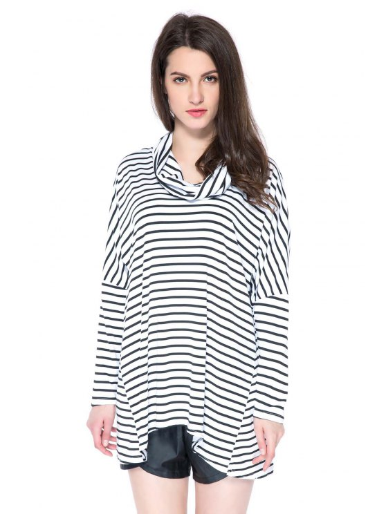 latest Striped Long Sleeve T-Shirt - STRIPE S