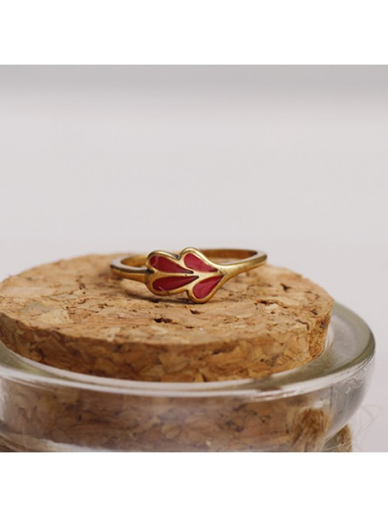 latest Chic Women's Leaf Decorated Ring - GOLDEN ONE-SIZE