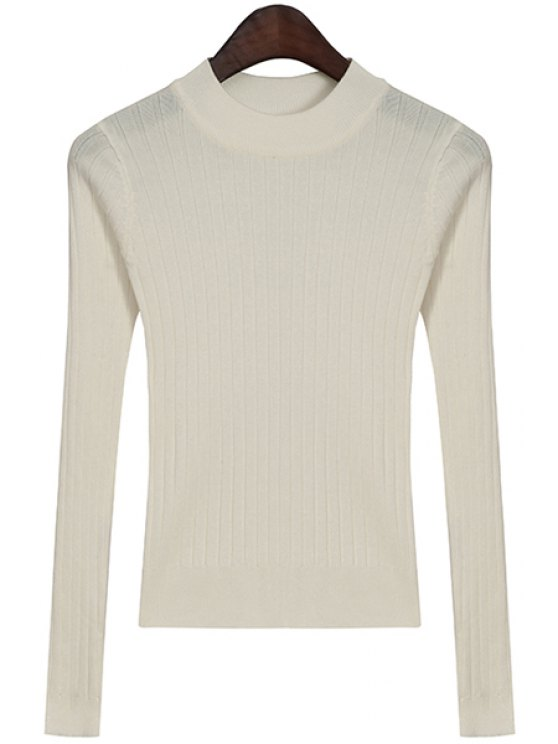 hot Solid Color Long Sleeves Knitwear - OFF-WHITE ONE SIZE(FIT SIZE XS TO M)