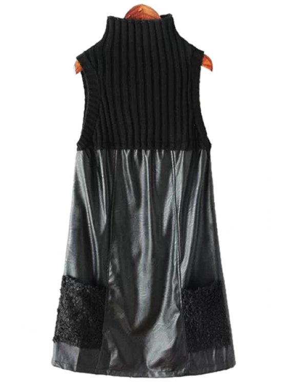 women's Sleeveless Double Pockets Dress - BLACK ONE SIZE(FIT SIZE XS TO M)