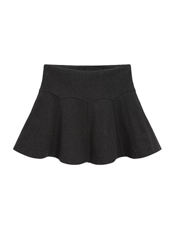 shops Flouncing Splicing Solid Color Skirt - DEEP GRAY ONE SIZE(FIT SIZE XS TO M)