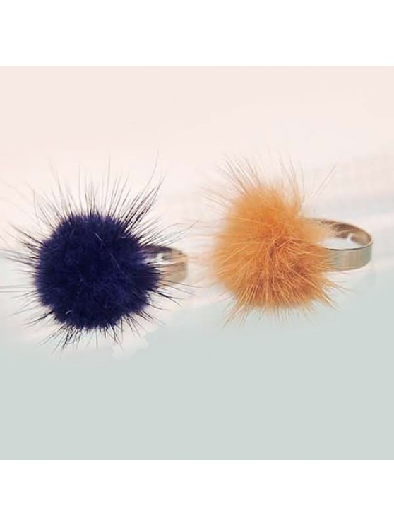 unique ONE PIECE Sweet Women's Furry Ball Ring - COLOR ASSORTED ONE-SIZE