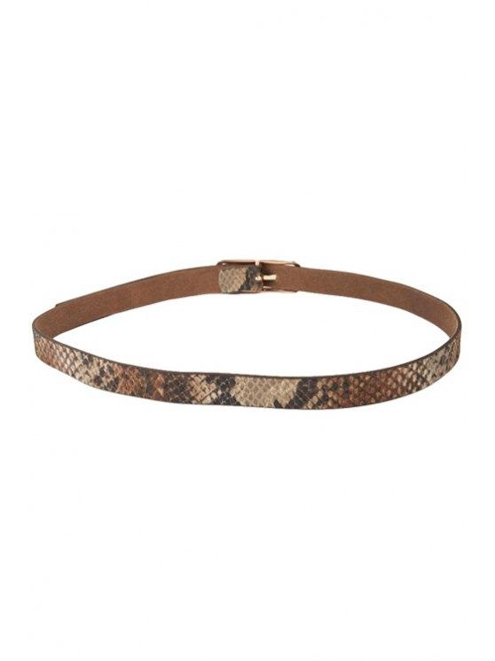 outfits Snake Pattern Slender Belt - BROWN