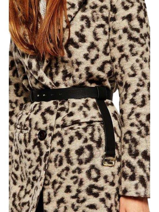 ladies Buckle Pendant Design Belt - BLACK