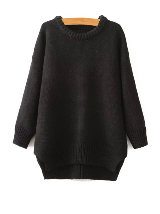 outfit Jewel Collar Solid Color Sweater - BLACK ONE SIZE(FIT SIZE XS TO M)