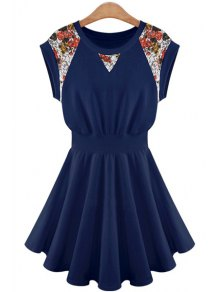 Lace Splicing A-Line Dress