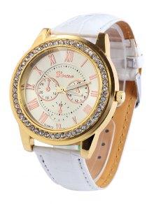 Roman Numeral Rhinestoned Watch