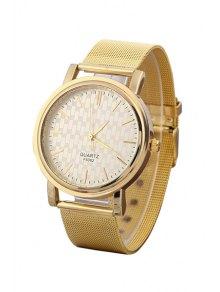 Golden Mesh Watch