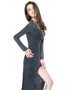 Solid Color High-low Hem Dress